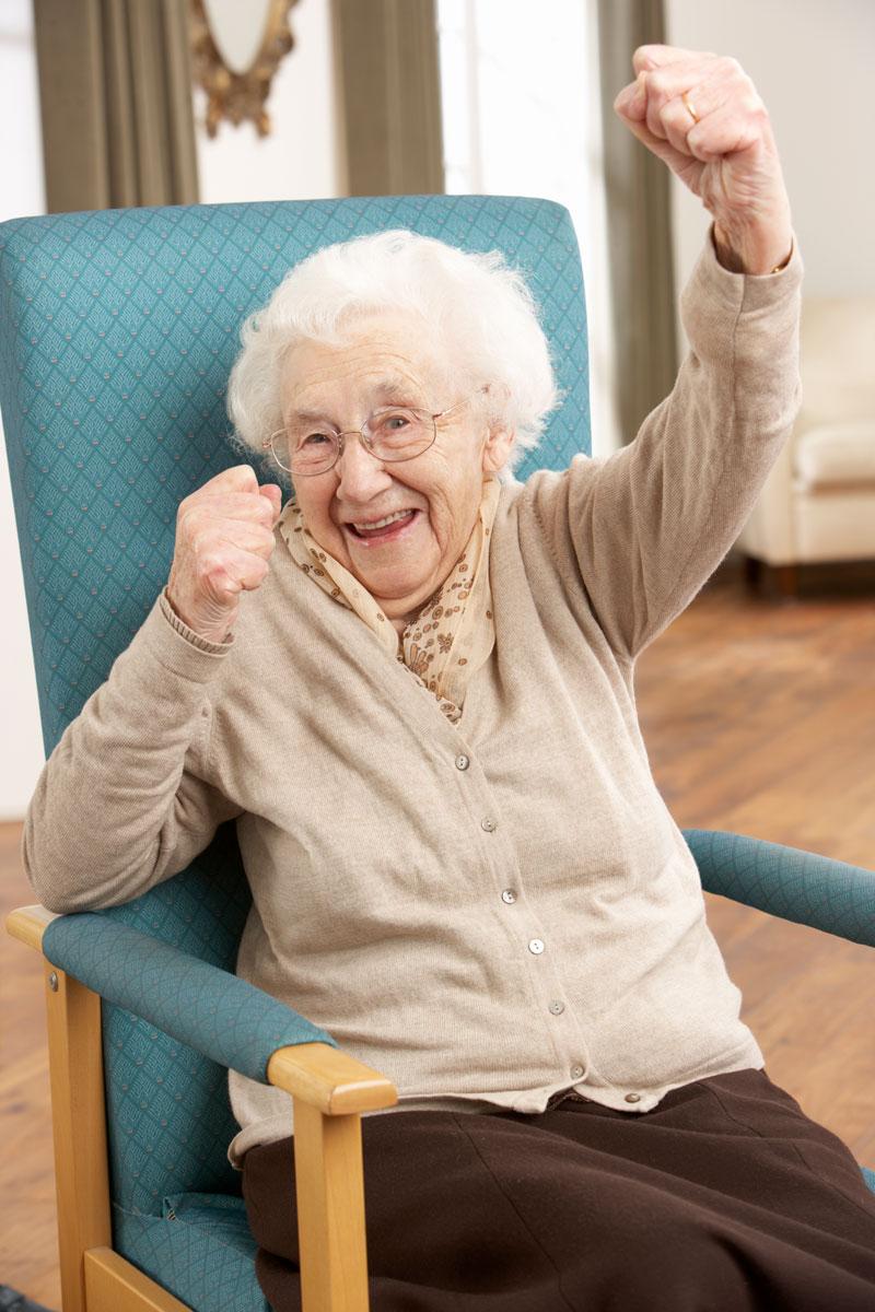 Senior Woman Celebrating